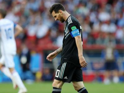 Messi no pudo anotar un penal ante Islandia