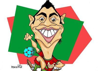 Cristiano se despachó con tres goles y amargó a España en el Mundial