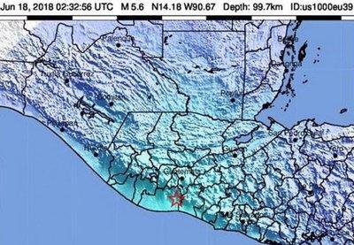 Sismo sacude Guatemala sin causar daños