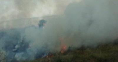 HOY / Gran incendio en humedal de San Bernardino