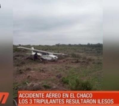 Terror tras percance aéreo en Alto Paraguay