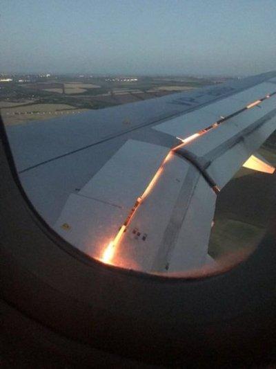Fuego en el avión de Arabia