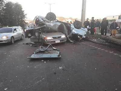 Grave accidente deja varios heridos en el Este