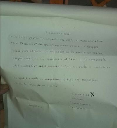 Dejan extraño mensaje pidiendo suspender beatificación de Chiquitunga