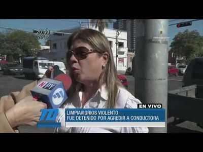 """""""Limpiavidrios"""" quedó detenido tras agredir a una conductora"""