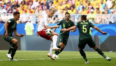 Dinamarca empató 1-1 con Australia por Grupo C del Mundial