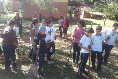 A través de convenio, entregan plantines a escuelas de Yby Ya´u