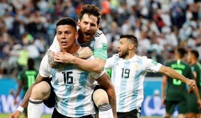 Messi, Marcos Rojo y el sufrimiento clasifican a Argentina