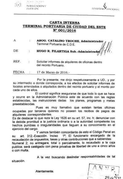 """En ANNP hacen """"oídos sordos"""" a pedido de informe sobre negociados de Troche"""