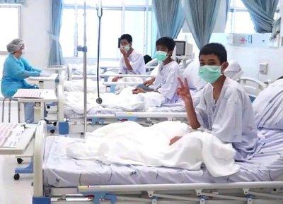 Rescate en Tailandia: Primera imágene de los niños en recuperación