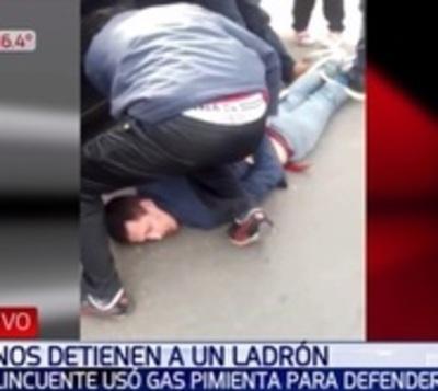 Robo en Asunción: Utilizó gas pimienta para evitar aprehensión