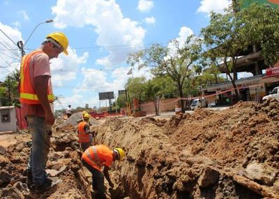 Obras de red de alcantarillado sanitario en San Lorenzo tienen un 20% de avance