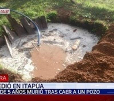 Niño cae a pozo ciego y muere en Itapúa