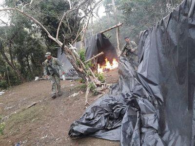 Destruyen marihuana y campamentos en Yby Yaú