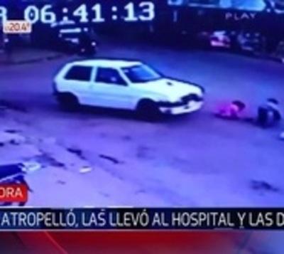 Raro accidente deja herida a una niña y su madre embarazada
