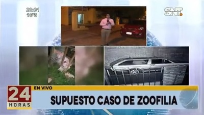 Denuncian caso de zoofilia en San Lorenzo
