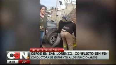 Nuevo enfrentamiento en San Lorenzo por colocación de cepos