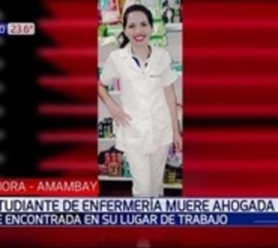 Hallan muerta a estudiante de enfermería
