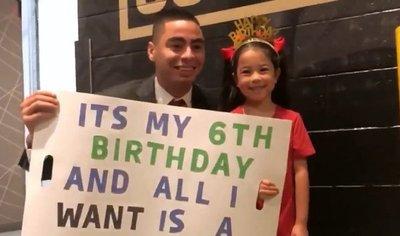 El tierno pedido a Miggy Almirón de parte de una pequeña fans de 6 años