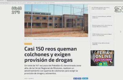 Amotinamiento en el penal de San Juan en Misiones