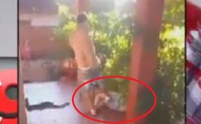 Graban golpiza a la que fue sometida una mujer