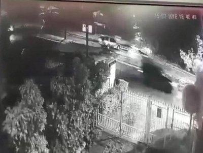 Brutal accidente, captado en vídeo