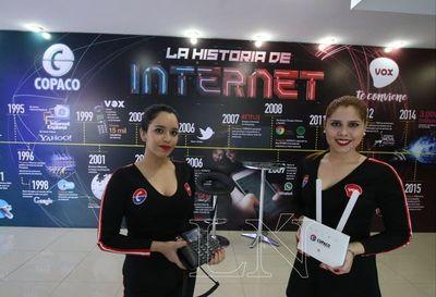 Copaco y la historia de Internet en su stand de la Expo 2018