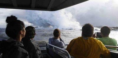 Explosión de lava en Hawái deja 13 turistas heridos