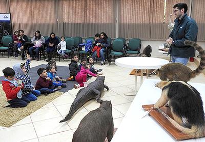 Masiva participación de niños en talleres de vacaciones del Museo