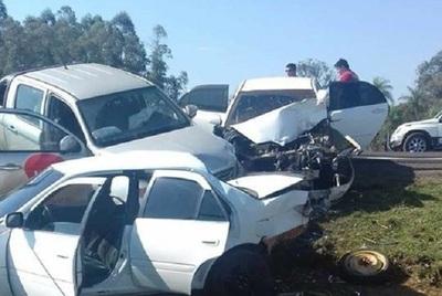 Triple choque deja un muerto en Guairá