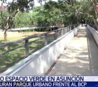 Asunción cuenta con un nuevo parque lleno de plantas y agua