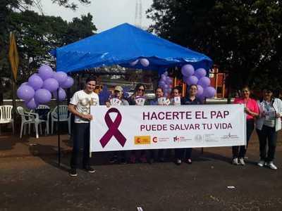 Realizan campaña de sensibilización para la prevención del cáncer del cuello uterino