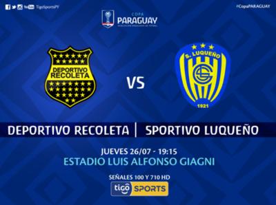 Recoleta versus Luqueño, por Tigo Sports