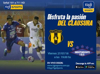 Guaraní versus Independiente CG, por Tigo Sports +