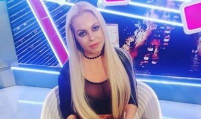 """Perla Alegre vestida de """"virgen"""""""