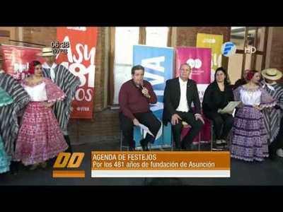 Agenda de festejos por Asunción