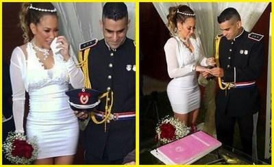 Vídeo-La polémica empresaria Ruth Alcaraz, se casó con el policía.