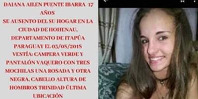 HOHENAU: UNA MENOR SE ENCUENTRA DESAPARECIDA DESDE EL DOMINGO.