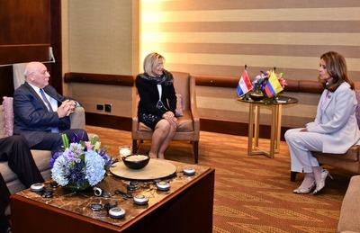 Pucheta mantuvo encuentro bilateral con nueva vicepresidenta de Colombia