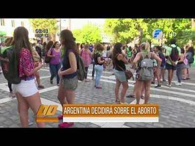 Argentina decide hoy sobre aborto