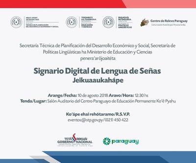 Diccionario digital de lengua de señas será lanzado este viernes