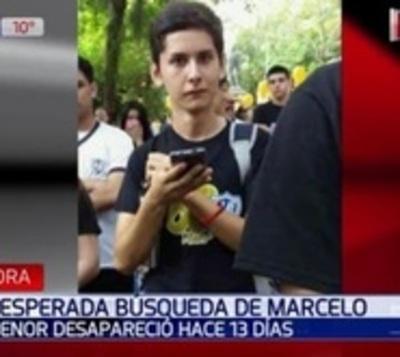 Crece la angustia por la desaparición del joven Marcelo