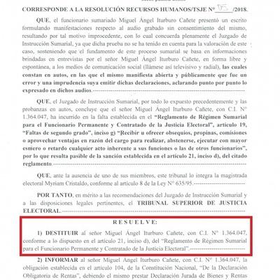 "TSJE destituye al ""vendedor"" de votos"