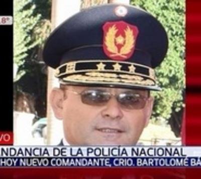 Bartolomé Báez asume como nuevo comandante de la Policía