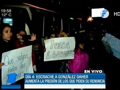 González Daher minimiza los escraches de manifestantes