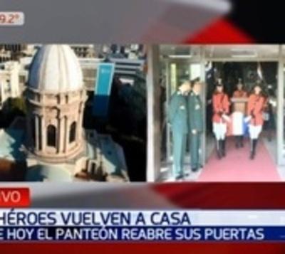 Restos de los héroes de la Patria retornan al Panteón Nacional