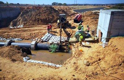 Se desarrolla normalmente obra de modernización de agua y saneamiento
