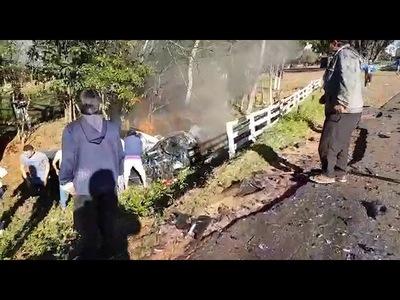 UN FALLECIDO Y TRES HERIDOS TRAS GRAVE ACCIDENTE