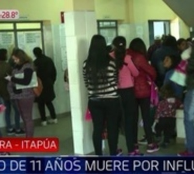 Niño de 11 años muere por influenza
