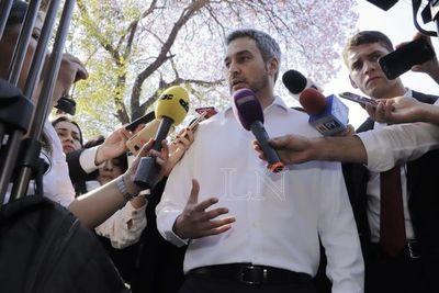 """Mario Abdo: """"No voy a entrometerme en otro poder del Estado"""""""